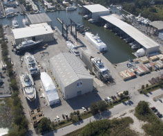 Aerial photo of the Derecktor Florida yard-11/2012