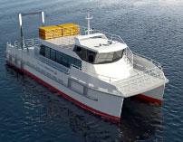 A rendering of The Maritime Aquarium vessel